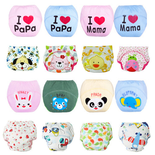 1 Piece Baby Training Pants/Baby Diaper/Reusable Nappy/Washable Diapers/Cotton Learning Pants/Same Style Bibs/27 Designs(China (Mainland))
