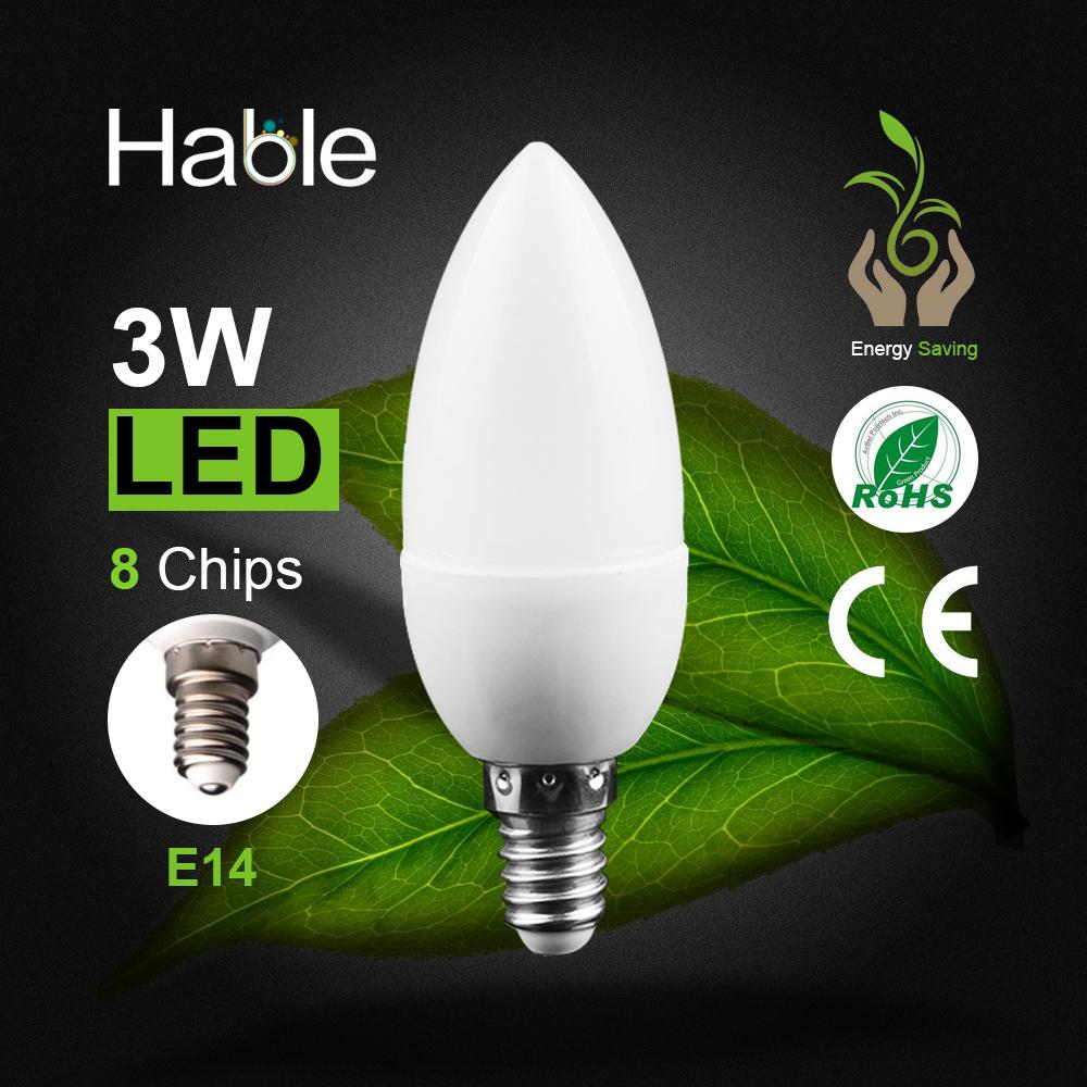 LED Candle Bulb E14 3W LED Candle Lamp low-Carbon life SMD2835 AC220-240V Warm White/White Energy Saving 1pcs/lot(China (Mainland))