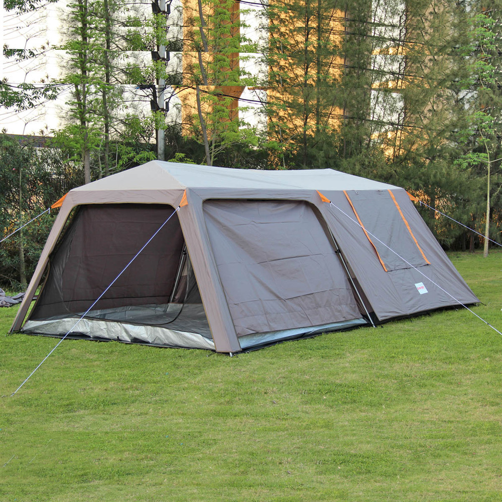 2015Promotion new style! High grade doublelayer 6 8 10 people 2bedrooms 1hall anti-storm large outdoor camping tent/Party tent<br><br>Aliexpress