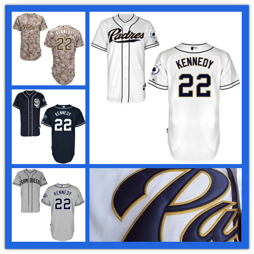 Kids San Diego Padres Jersey #22 Ian Kennedy Jersey Youth Authentic Stitched Cool Base Baseball High Quality Jerseys(China (Mainland))