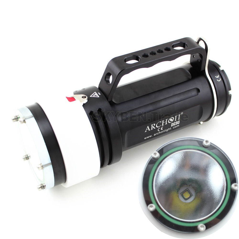 Archon DG90 Goodman Handle Diving Light Cree LED 2200 LM Rechargeable Diving Torch(China (Mainland))