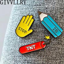 Fashion Cute Cartoon Enamel Mini Button Brooch Pins Jewelry Accessories For Women Shirt Collar Pin Brooches Best Friends Gift