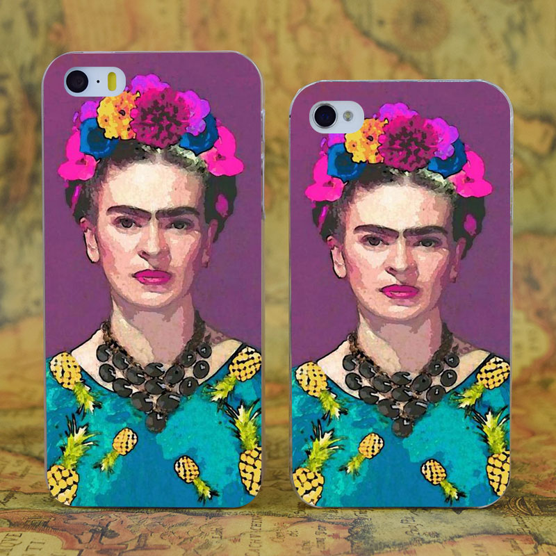E1770 Trendy Frida Kahlo Transparent Hard Thin Case Cover For Apple iPhone 4 4S 5 5S SE 5C 6 6S 7 Plus(China (Mainland))