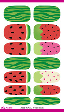 K5648 Water Transfer Nail Sticker Minx Cute Cartoon Watermelon Design Nails Art Decoration Manicure Foil Decals Free Shipping