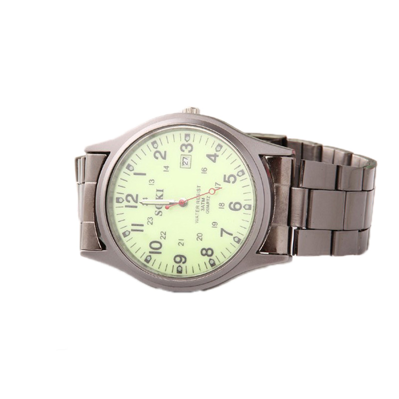 The new 2016 selling watches, SOKI brand watch of wrist of steel belt, mens luminous military watches, accurate calendar watch<br><br>Aliexpress