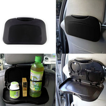 New 1pcs Folding Auto Car Back Seat Table Drink Food Cup Tray Holder Stand Desk hot selling~(China (Mainland))
