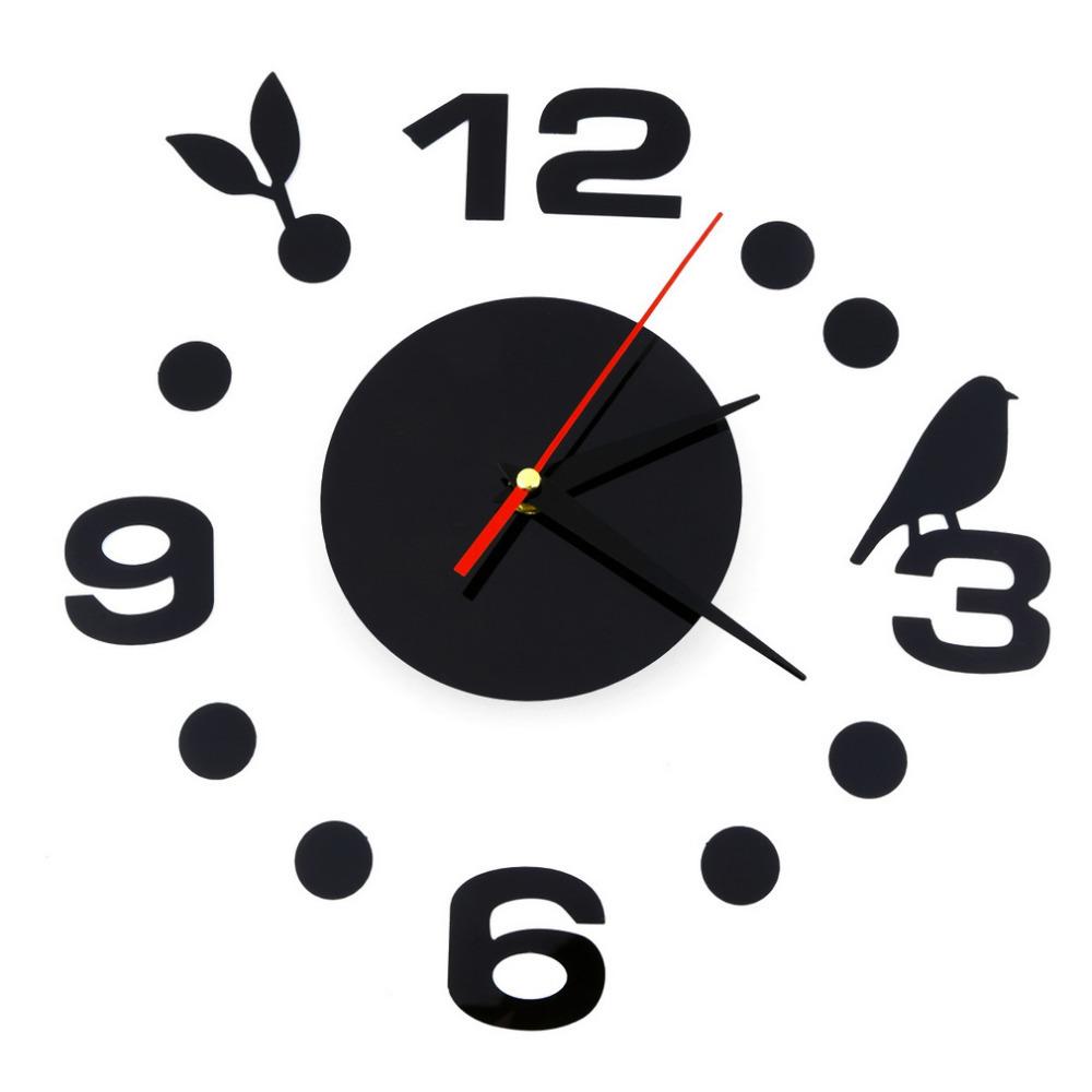 Nouveau moderne bricolage horloge grande horloge murale 3d for Horloge murale 3 cadrans