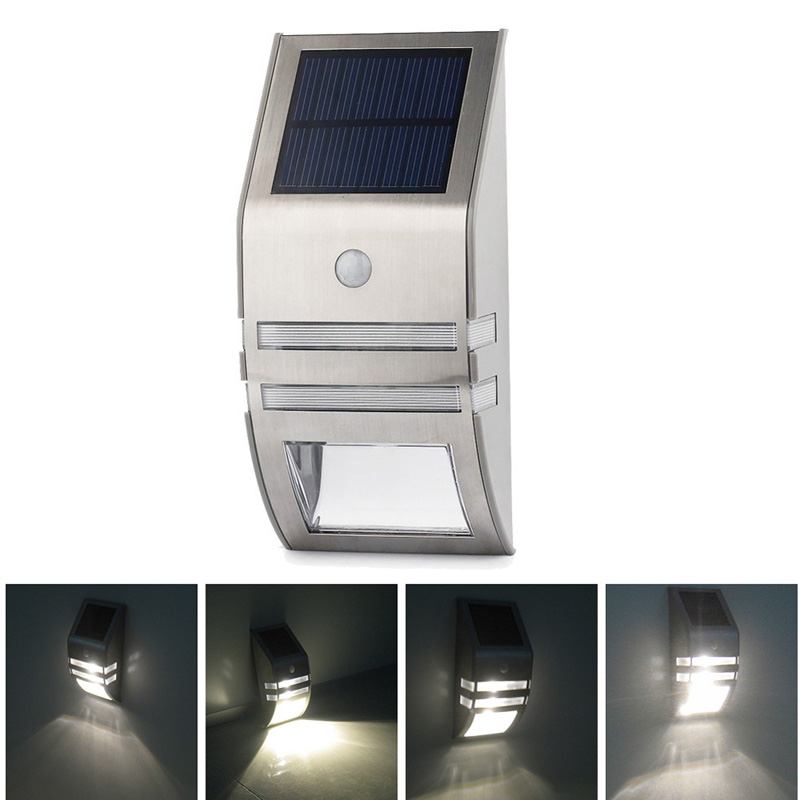 High Quality  Solar Powered LED PIR Motion Sensor Outdoor Path Wall Light Garden Security Lamp Free Shipping<br><br>Aliexpress