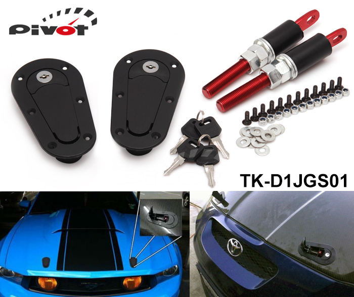 Tansky - D1SPEC JDM Plus Flush Hood Latch and Pin Kit Racing Latch Locks Locking Hood Kit TK-D1JGS01(China (Mainland))