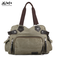 New High Quality Wash Canvas Men's Bag Casual Retro Men Messenger Bags Men Business Handbag Man Shoulder Bags Mochila Masculine