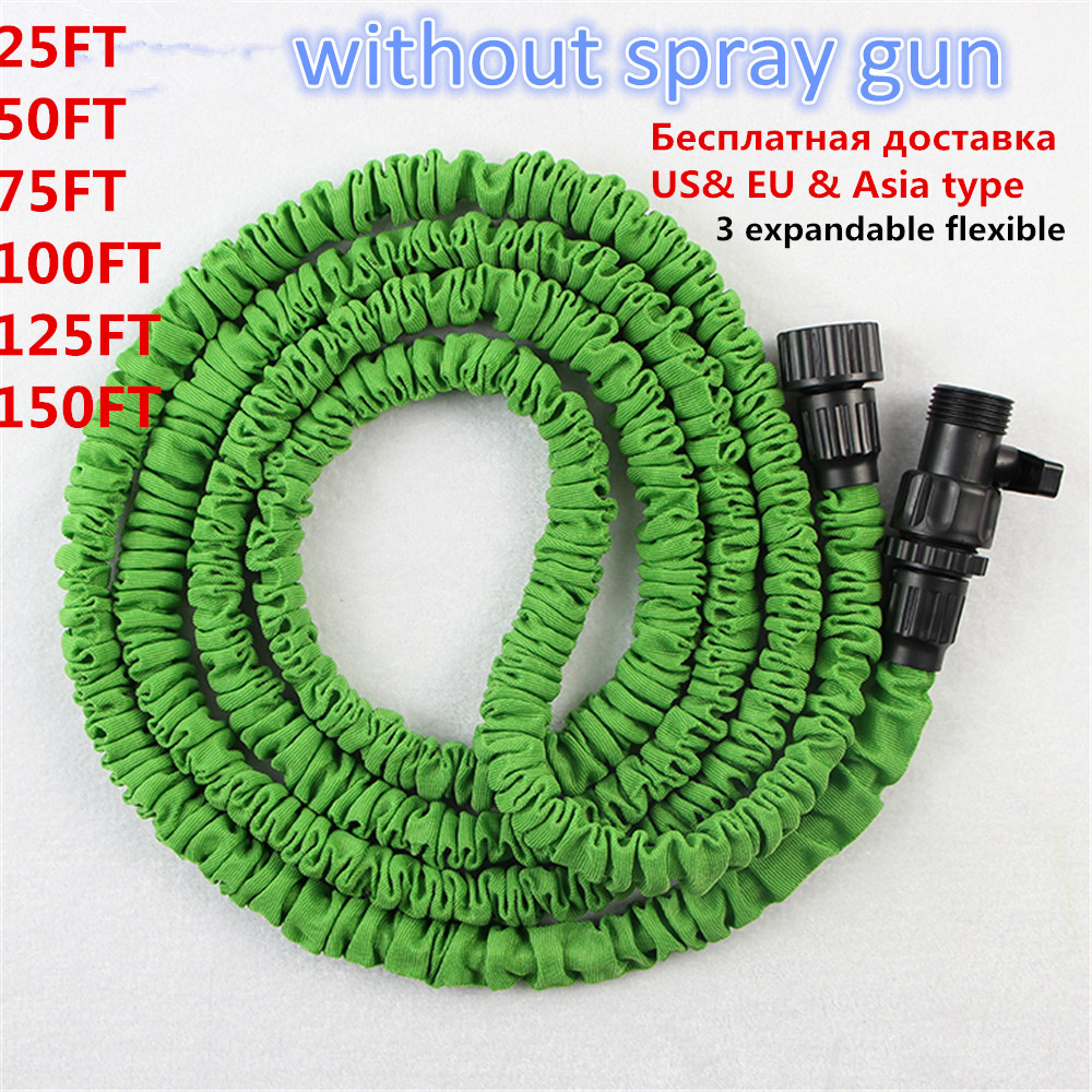 Hose for Watering & Irrigation 25ft-100ft Incredible Expanding Magic Garden Hose (without spray gun) Garden Supplies Best Hose(China (Mainland))