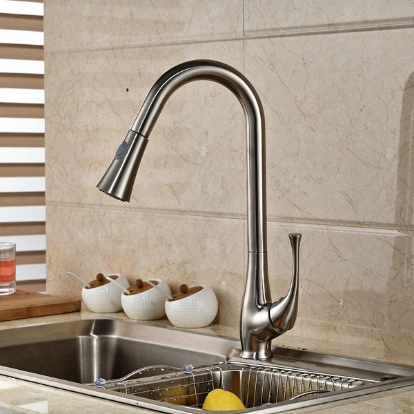 Achetez en gros robinets de cuisine bross nickel en ligne for Articles de cuisine en ligne