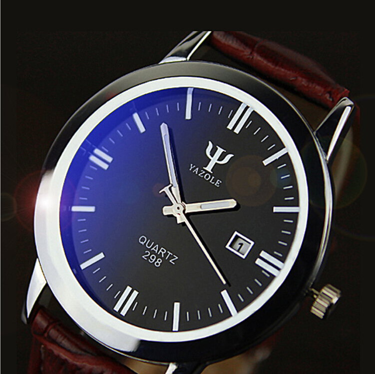 2015 Hot Casual Fashion Men Watches Top Brand Luxury Wristwatches Men Military Leather Sports Watch Auto