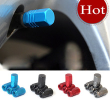 4Pcs/lot Universal Auto Bicycle Car Tire Valve Caps Tyre Wheel Hexagonal Ventile Air Stems Cover Airtight rims Accessories