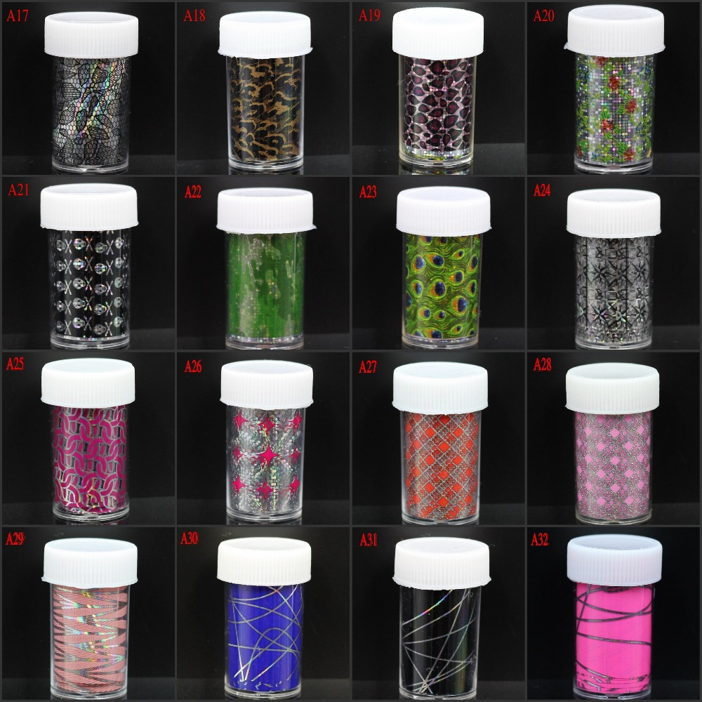 1PC Cheap Nail Transfer Foil Roll Wholesale Retail Nail Tip Sticker Decoration Accessories All For Nail Supplies A17-A32(China (Mainland))