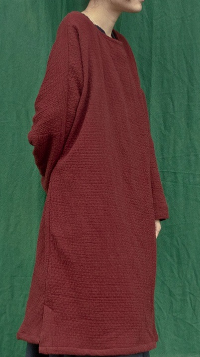 The winter of 2015 new products to market, the original design thickening of loose big yards of cotton linen women dress(China (Mainland))