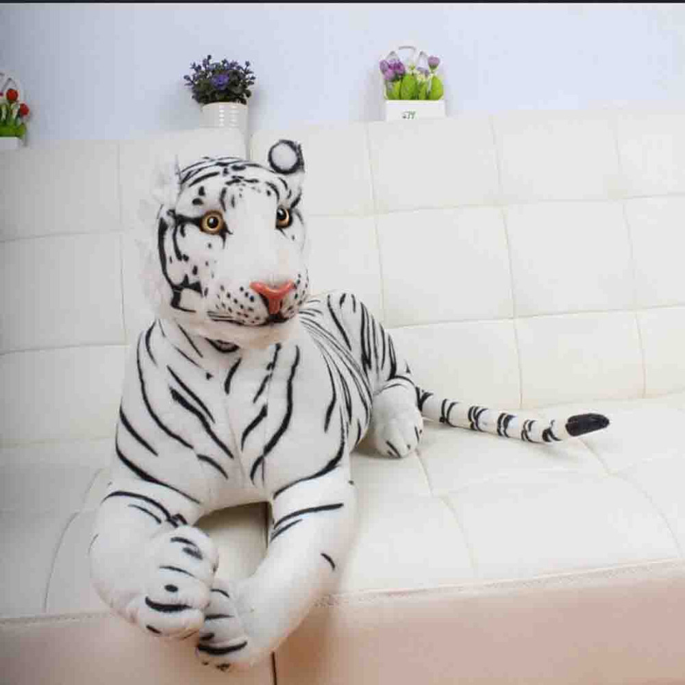 110cm large plush stuffed animal toys white tiger plush Toy Doll for home decoration gift(China (Mainland))
