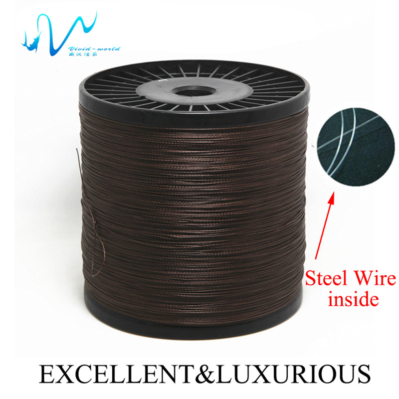 Vw High quality Professional 1000 m fishing line PE braided steel wire inside Super strong Multifilament Perfect for fishing(China (Mainland))
