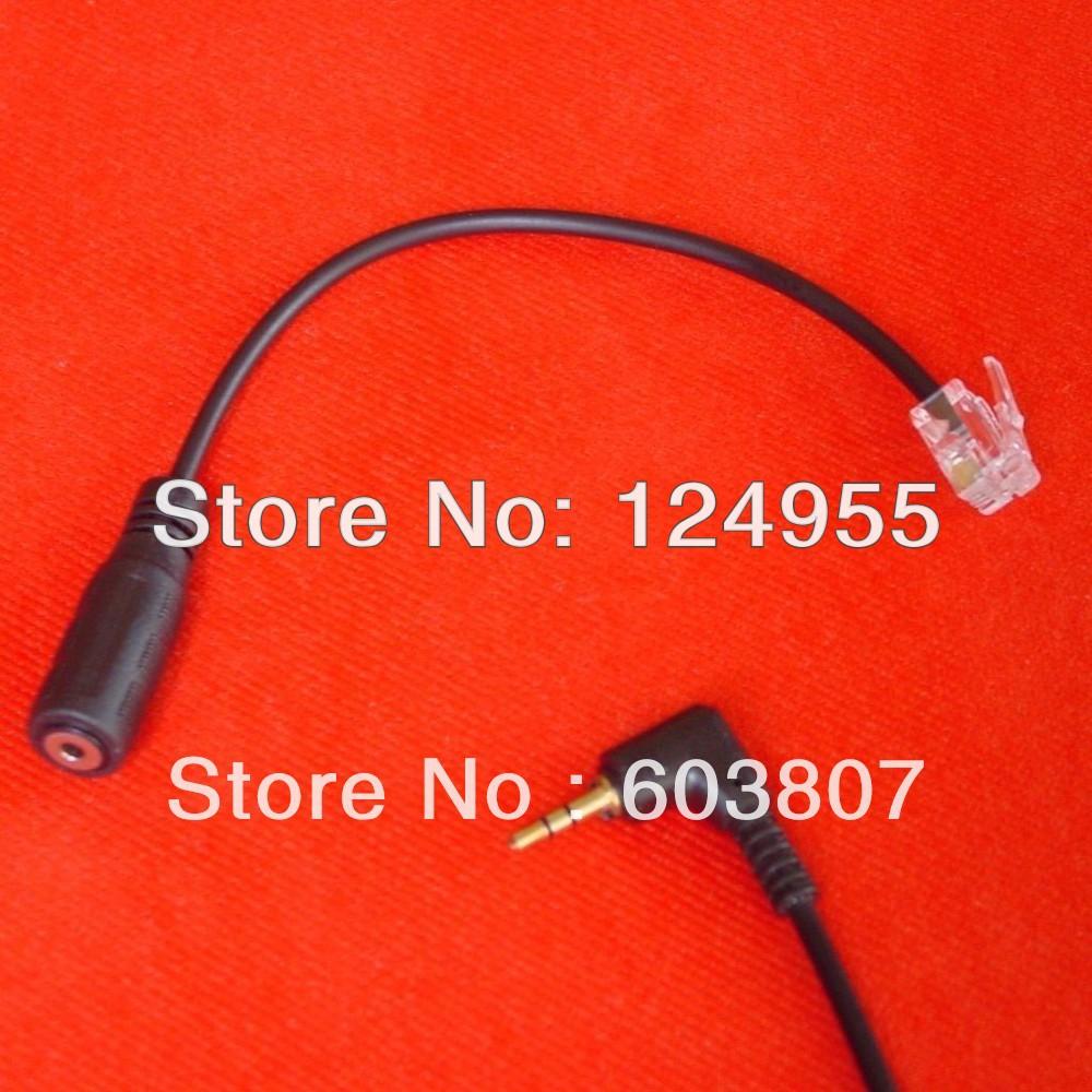 2.5mm to RJ Adapter For Yealink T20P T22P T26P T28P & Cisco 7905 7910 7911 7912 IP(China (Mainland))
