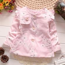 Casual Spring Autumn Baby Girls Infant Kids Princess Flower Jackets Outerwear Coats Cardigan Coat MT389