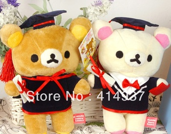 Excellent Quallity Relaxed mood  bear Doctor bear stuffed toy plush doll Graduation gift 23cm  r