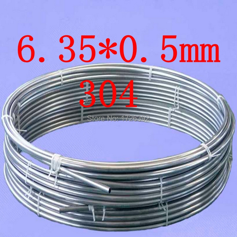 6.35*0.5mm OD 1/4 inch 304 stainless steel coil pneumatic hose / tube / coil / capillary chromatography accessories(China (Mainland))
