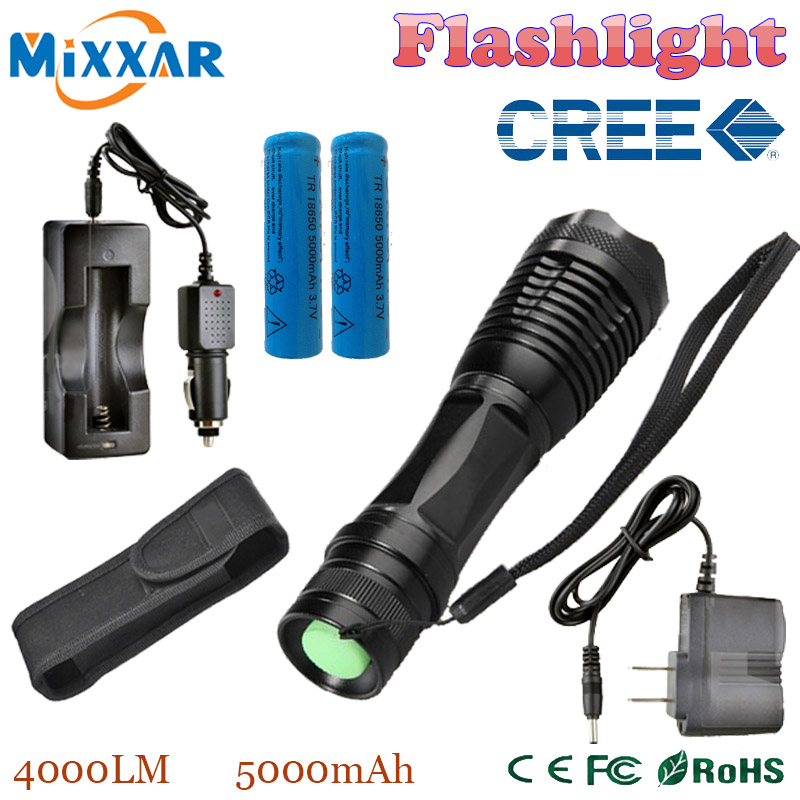 zk20 CREE XM-L T6 4000LM E17 Aluminum Torches Zoomable LED Flashlight LED Torch Lamp For 3XAAA or 18650 Battery(China (Mainland))