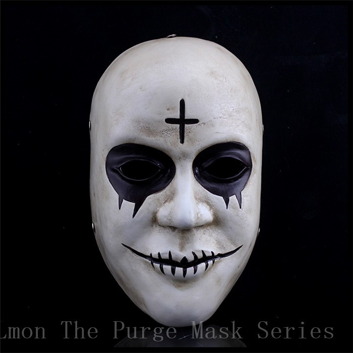 Hot Sale The Purge Mask God Cosplay Home Decor Collection Horror Movie Masks Full Face Resin Creepy New Scary Halloween Mask