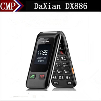 "Original DaXian DX886 Flip Mobile Phone 2.4"" Screen Dual Sim MP3 Camera FM SOS Flash Light Big Sound Old Man Phone(China (Mainland))"