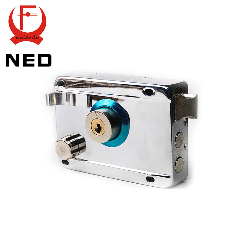 NED-9331 Exterior Door Locks Security Anti-theft Lock Multiple Insurance Lock Iron Gate Door Lock For Furniture Hardware(China (Mainland))