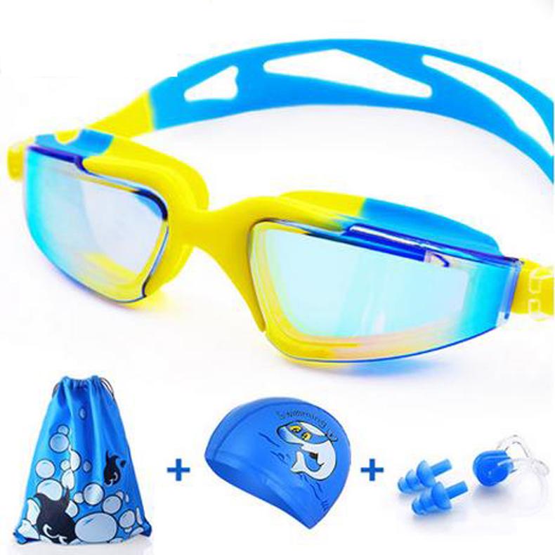 child goggles/waterproof anti-fog boy girl big picture frame swimming glasses/children/baby swimming equipment/170807(China (Mainland))