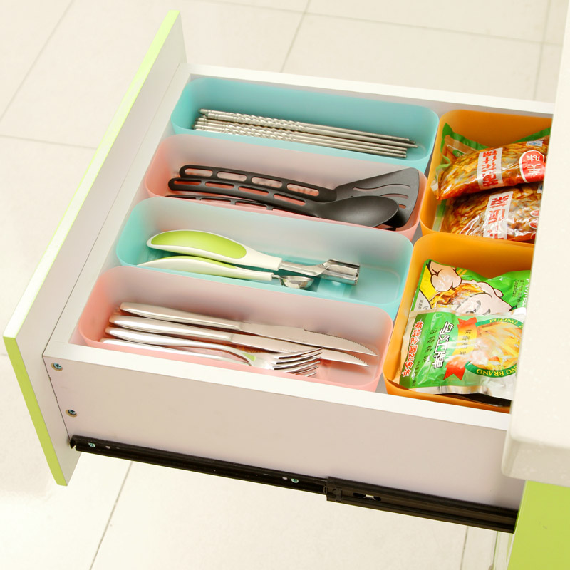 Free shipping Japanese style Colorful drawer multi-purpose finishing boxes, creative tableware storage box sundries storage bin(China (Mainland))