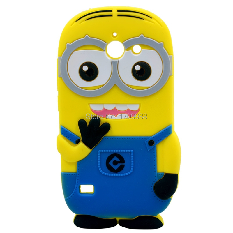 Soft Silicone Cover for Huawei Ascend Y550 Case for Huawei Y550 3D Despicable Me Yellow Minion Protective Cover(China (Mainland))