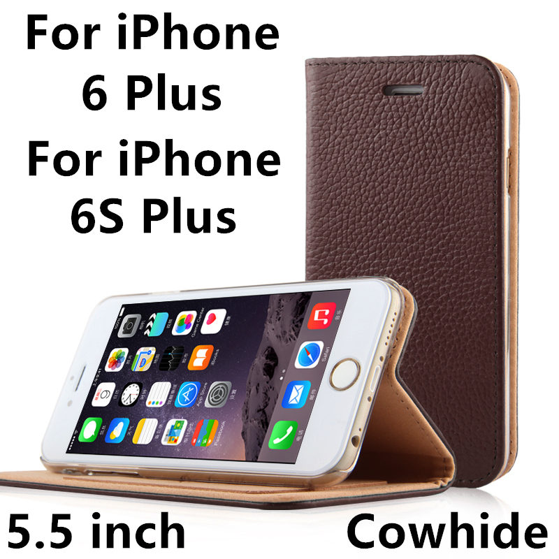 Mobile Case Cowhide For iPhone 6 Plus Protective cover TPU Phone shell For iPhone 6s Plus 5.5 inch Protector Genuine Leather(China (Mainland))