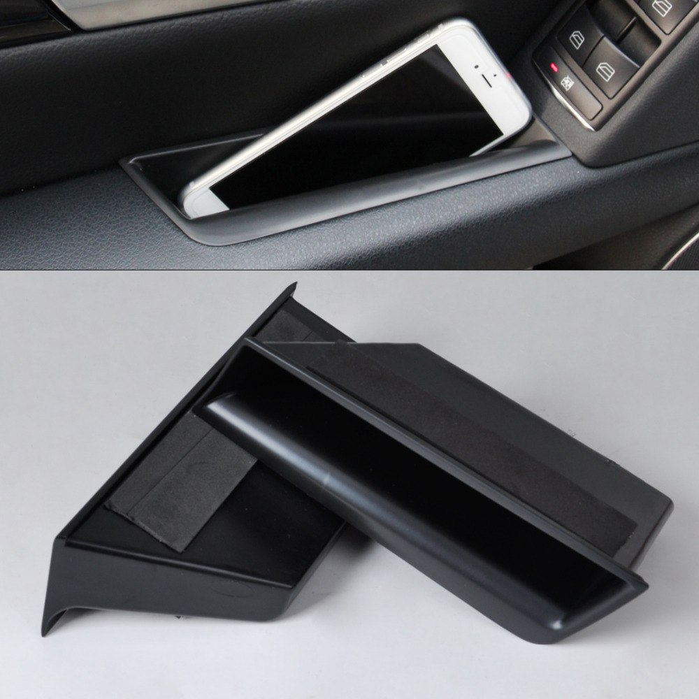 Tracking brand new front door armrest storage box for Mercedes benz phone mount