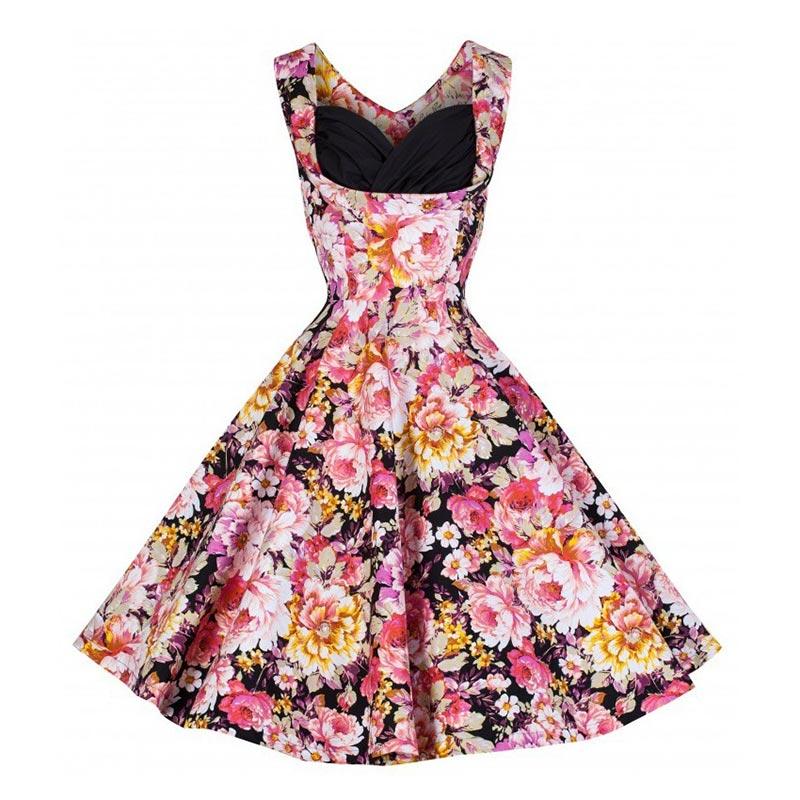 Pin up robe Rockabilly 50s 60s Retro Vintage big Swing rockabilly Dresses multiclored bots sleeveless vestidos de noiva