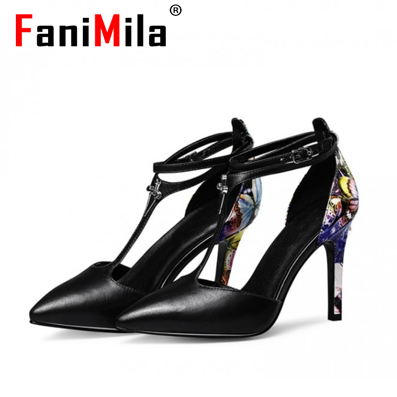 women real genuine leather stiletto pointed toe party high heel sandals brand sexy fashion heeled ladies shoes size 34-39 R6107<br><br>Aliexpress