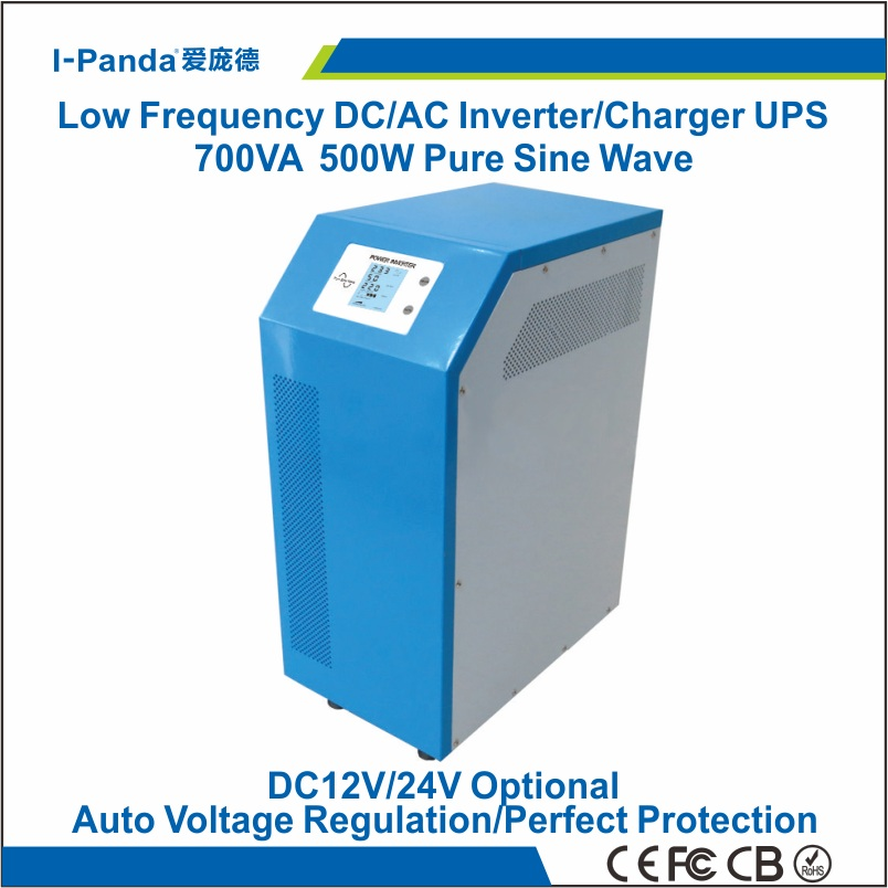 Stock Brandnew Industrial Level low frequency 700VA Pure Sine Wave Solar Inverter 500w with charger UPS<br><br>Aliexpress