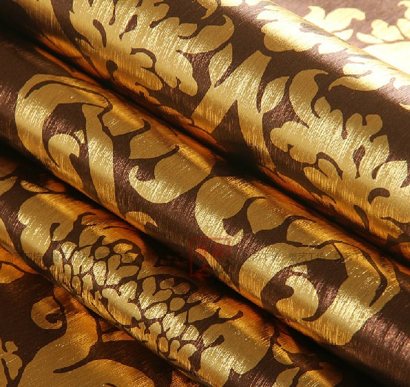 European luxury floral wallpaper waterproof embossed gold for Black and gold wallpaper for walls