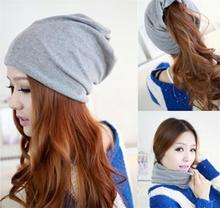 5 Colors Cotton Women Beanies Caps Spring Women Beanie Hat For Women Caps 3 Way To Wear Bonnet(China (Mainland))
