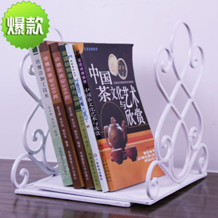 1 Pair Durable Concise Heavy Metal Book End Shelf Bookend Holder Office School Supplies Stationery Student Good Helper DIY(China (Mainland))