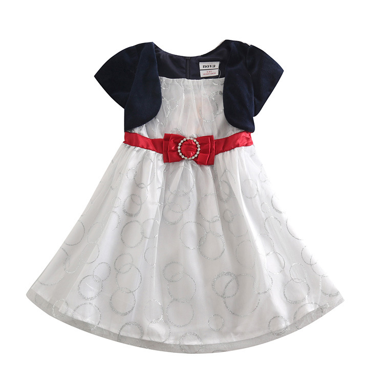 Sapphire blue baby girl dress up for girl,casual dress,All for children clothing accessories,kid wear vestido infantis de menina(China (Mainland))