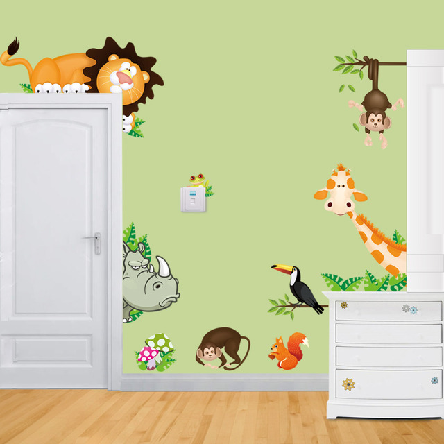 Cute Animal Live in Your Home DIY Wall Stickers