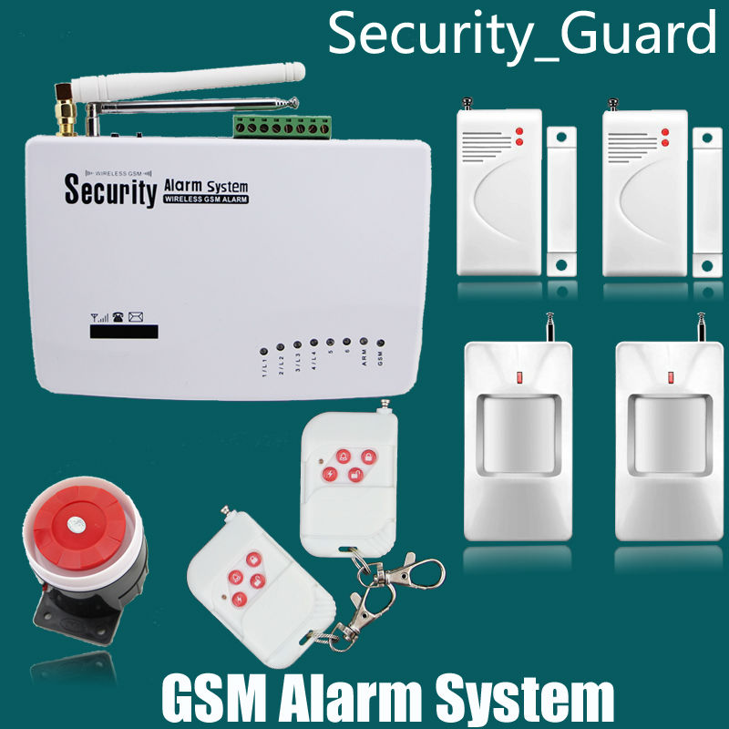 New Wireless/wired GSM Voice Home Security Burglar Alarm System Auto Dialing Dialer SMS Call Remote control setting<br><br>Aliexpress