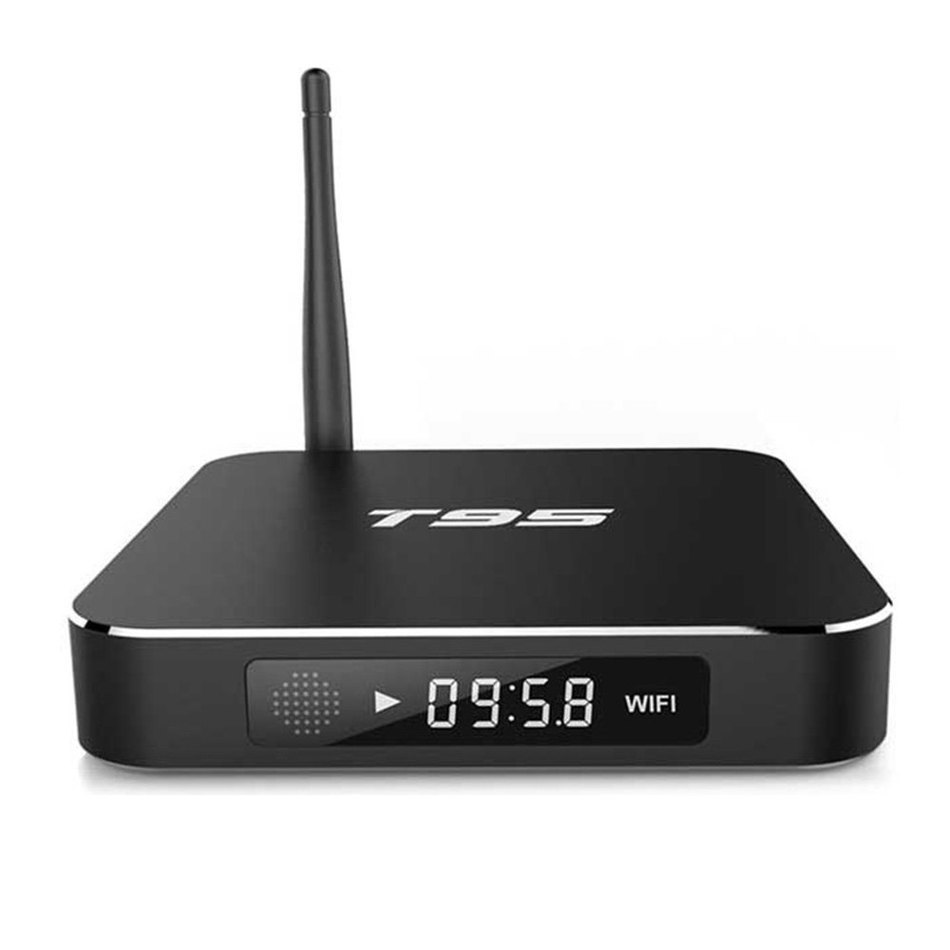 2016 Rushed Black Sunvell T95 TV Box Amlogic S905 Quad Core Real-time Display 32G Online Player 2.4GHz WiFi HD 2.0 Connectivity(China (Mainland))