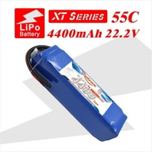 2pcs redzone rc lipo battery 55C 4400mAh 22.2V 6s for electric helicopter fixed-wing aircraft quadcopter