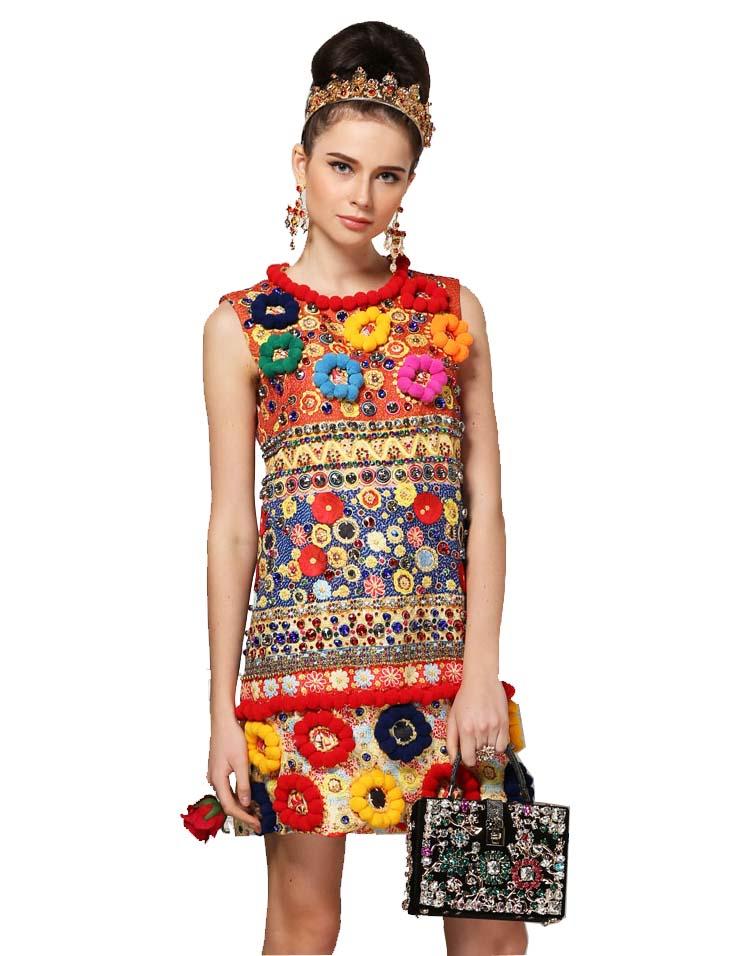 runway fashion designer dress women 39 s high quality fuzzy ball luxury