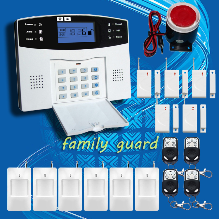 DHL Free Shipping!Wholesale - Wireless 433MHZ GSM SMS Home Burglar Security Alarm System Detector Sensor Kit Remote Control(China (Mainland))