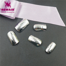 Buy 28 pcs Metallic Silver False Nails Full Cover Fake Nails Artificial Decorations For Salon Manicure Nail Art Tools Women Beauty for $1.23 in AliExpress store