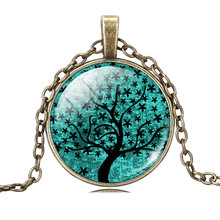 Fashion Christmas Tree Necklace Silver Color Statement Necklace for Women Jewelry Bronze Sweater Collares for Women